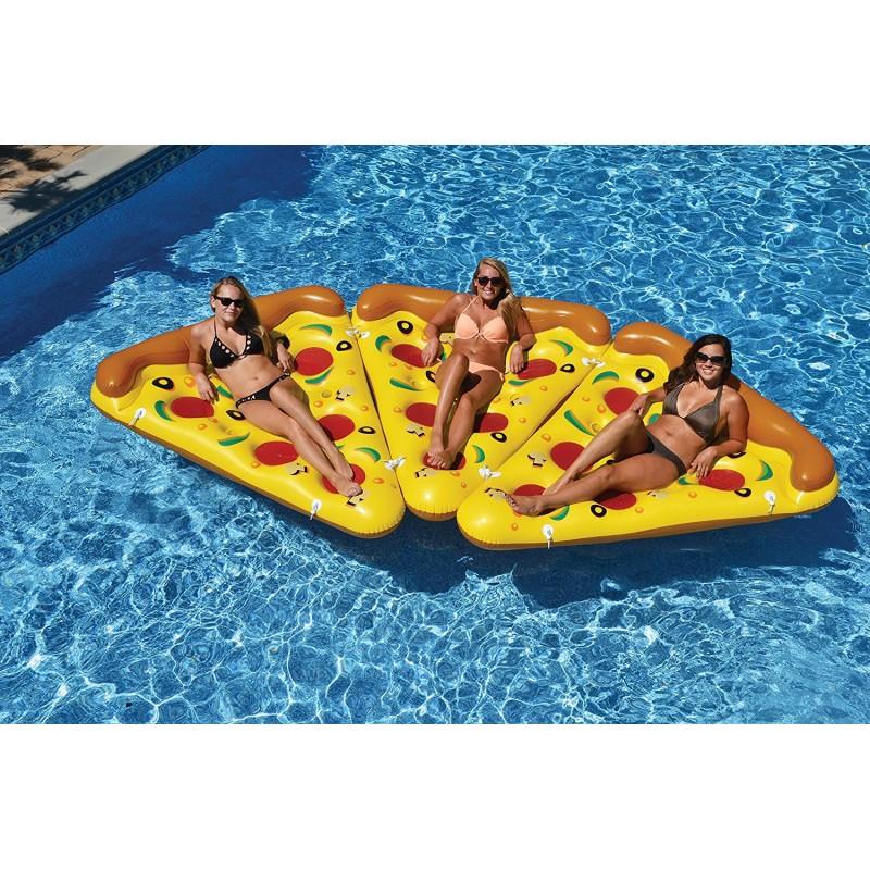 Pizza flotador gigante para piscina beach toy for Piscinas toy