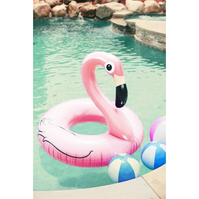 flamingo light pink bou e g ante gonflable beach toy. Black Bedroom Furniture Sets. Home Design Ideas