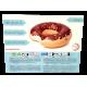 Flotador inflable de Donut de chocolate