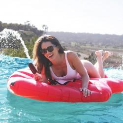 Flotador gigante para piscina en forma de Labios Rojos