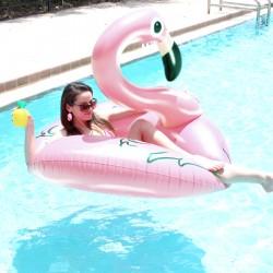 Flamingo Rosa Perla flotador gigante para piscina