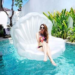 Flotador gigante para piscina en forma de Concha