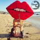 Matelas géant gonflable Lèvres Rouges