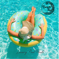 Flotador inflable para piscina de Donut Azul