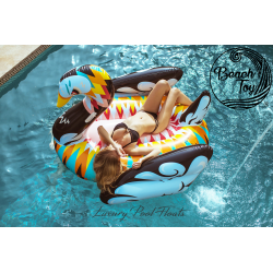Colorful Swan Giant pool float