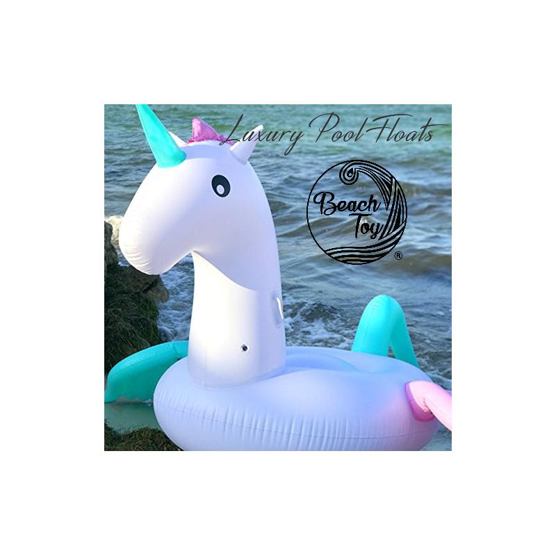 unicornio multicolor volador flotador gigante para piscina beach toy. Black Bedroom Furniture Sets. Home Design Ideas