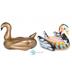 Beach Toy Pack Cygne Gonflable DESIGN XXL +  Cygne gonflable OR XXL